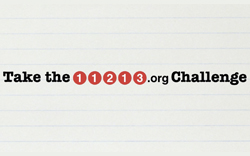 Take the 11213.org Challenge Sidebar