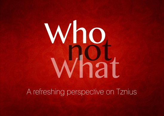 Who Not What - A refreshing perspective on Tznius