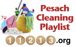 Pesach Cleaning Playlist -Sidebar